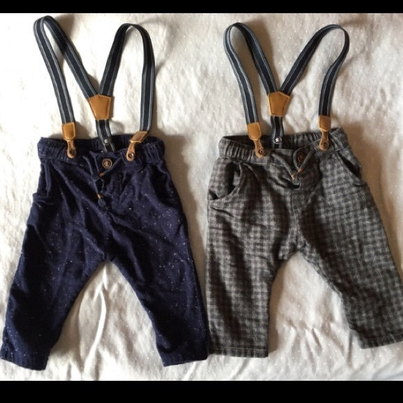 new style of 2019 fine craftsmanship large assortment H & M Pants with suspenders baby boy 4-6 months